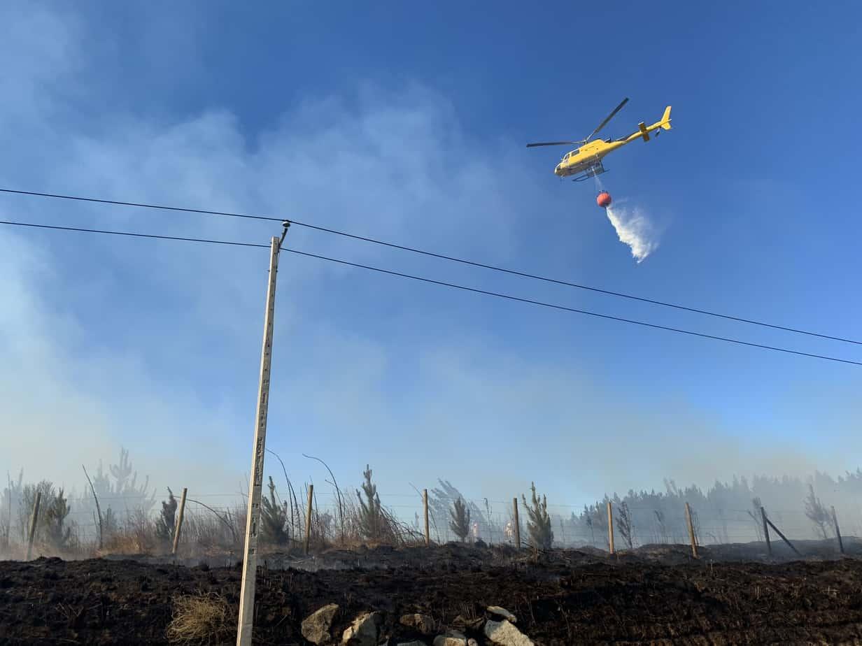 Alerta Roja en Los Ángeles: 195 hectáreas han sido consumidas por el fuego