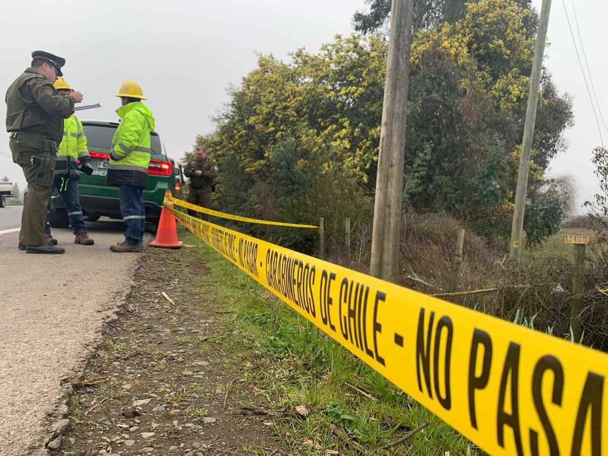 Hombre muere electrocutado tras intentar robar cables camino a Nacimiento