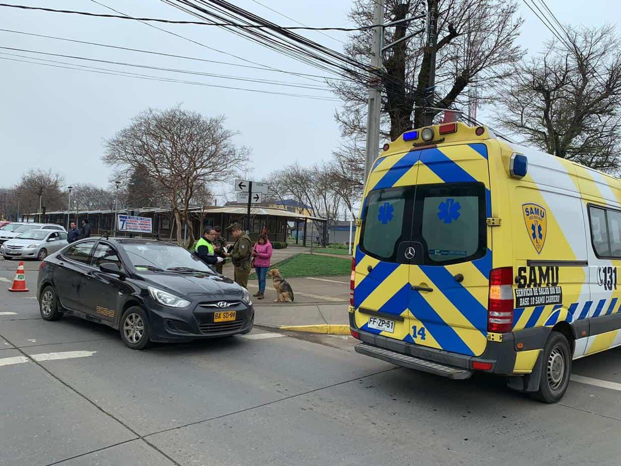 Conductor de colectivo resulta lesionado tras colisión en pleno centro