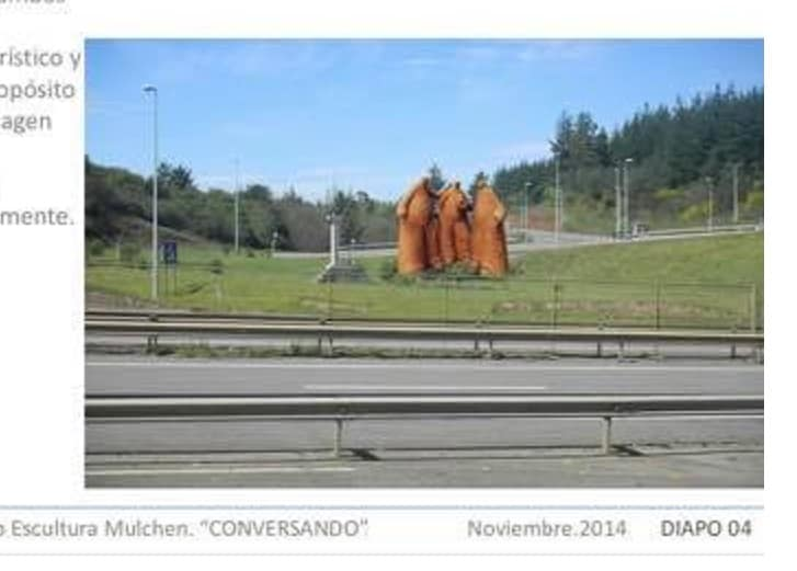 Alcalde y polémica por escultura que pretenden levantar en Mulchén: «No son personas gordas, es una escena abstracta»