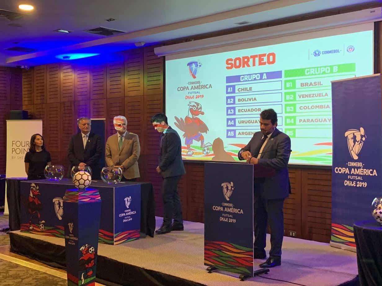 La Copa América de Futsal Los Ángeles Chile 2019 ya tiene sus grupos