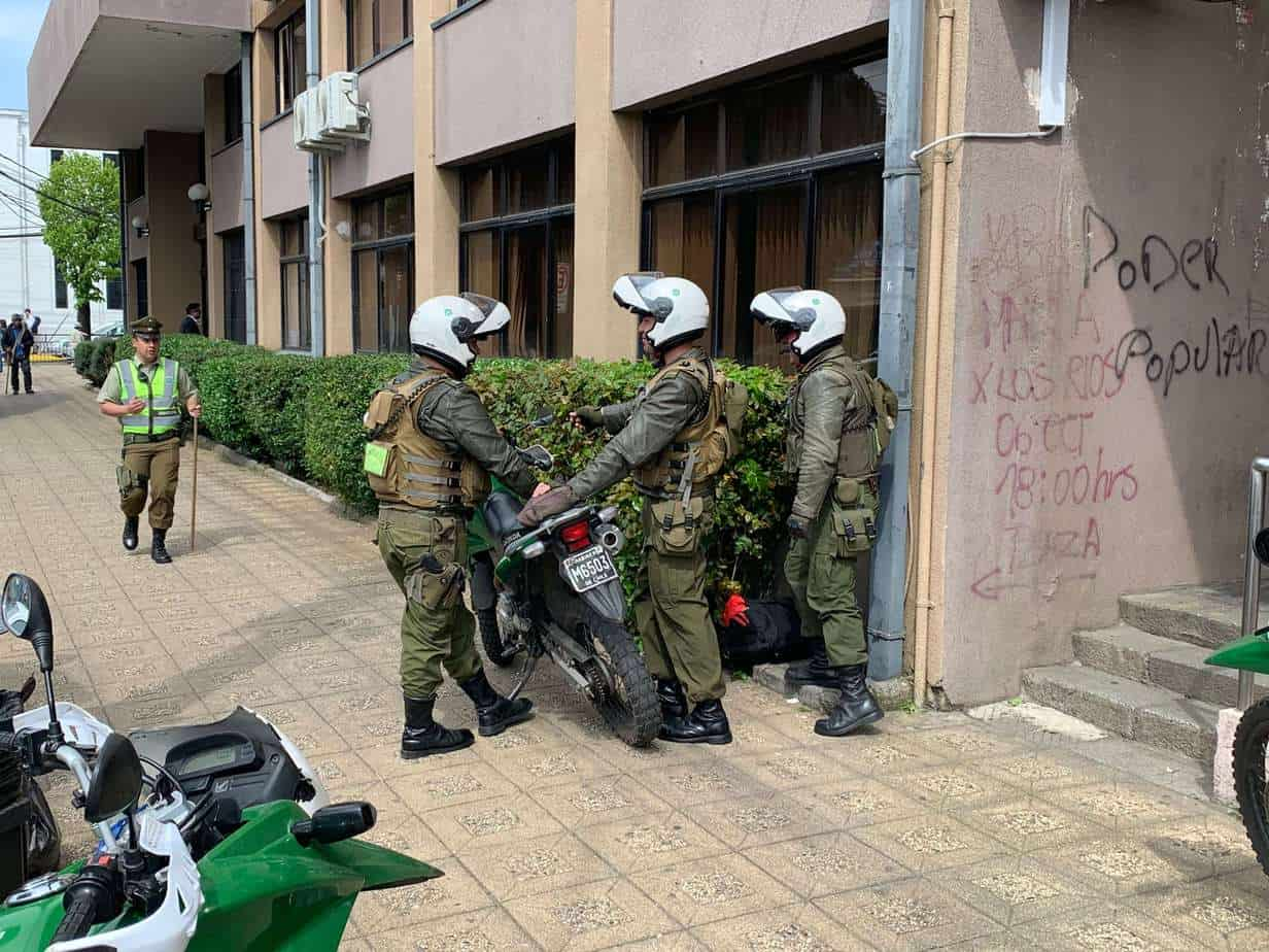 Bolso sospechoso movilizó a carabineros en la Gobernación