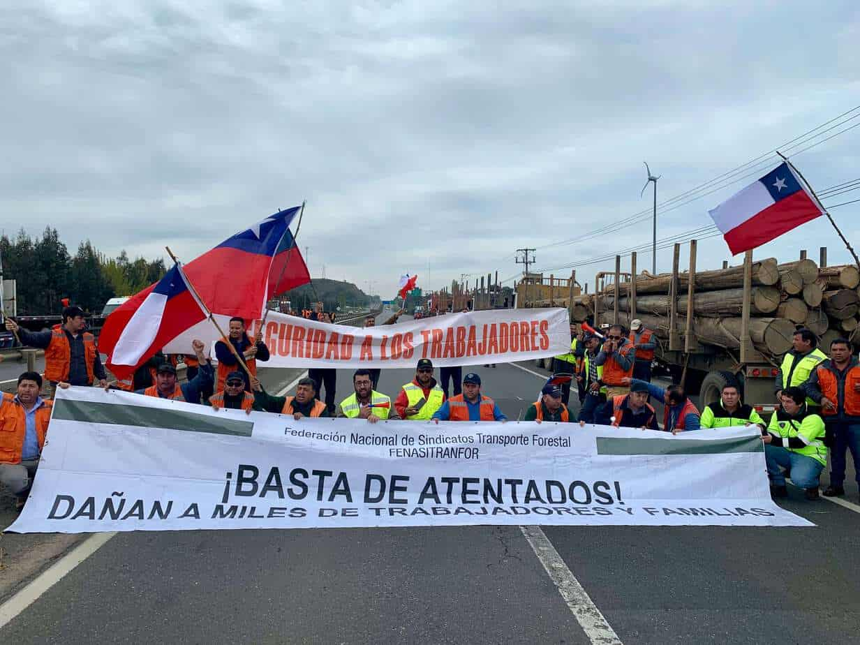 Heriberto López dirigente de conductores de camiones: «nos pusieron 150 carabineros y los malos no están aquí»
