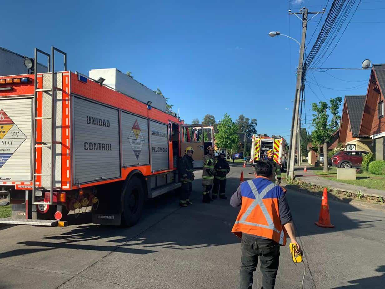 Fuga de gas afecta al Condominio El Avellano en Los Ángeles