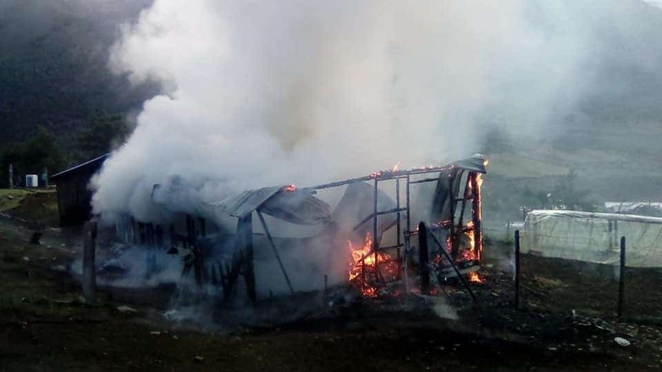 Incendio reduce a cenizas una vivienda en Alto Biobío