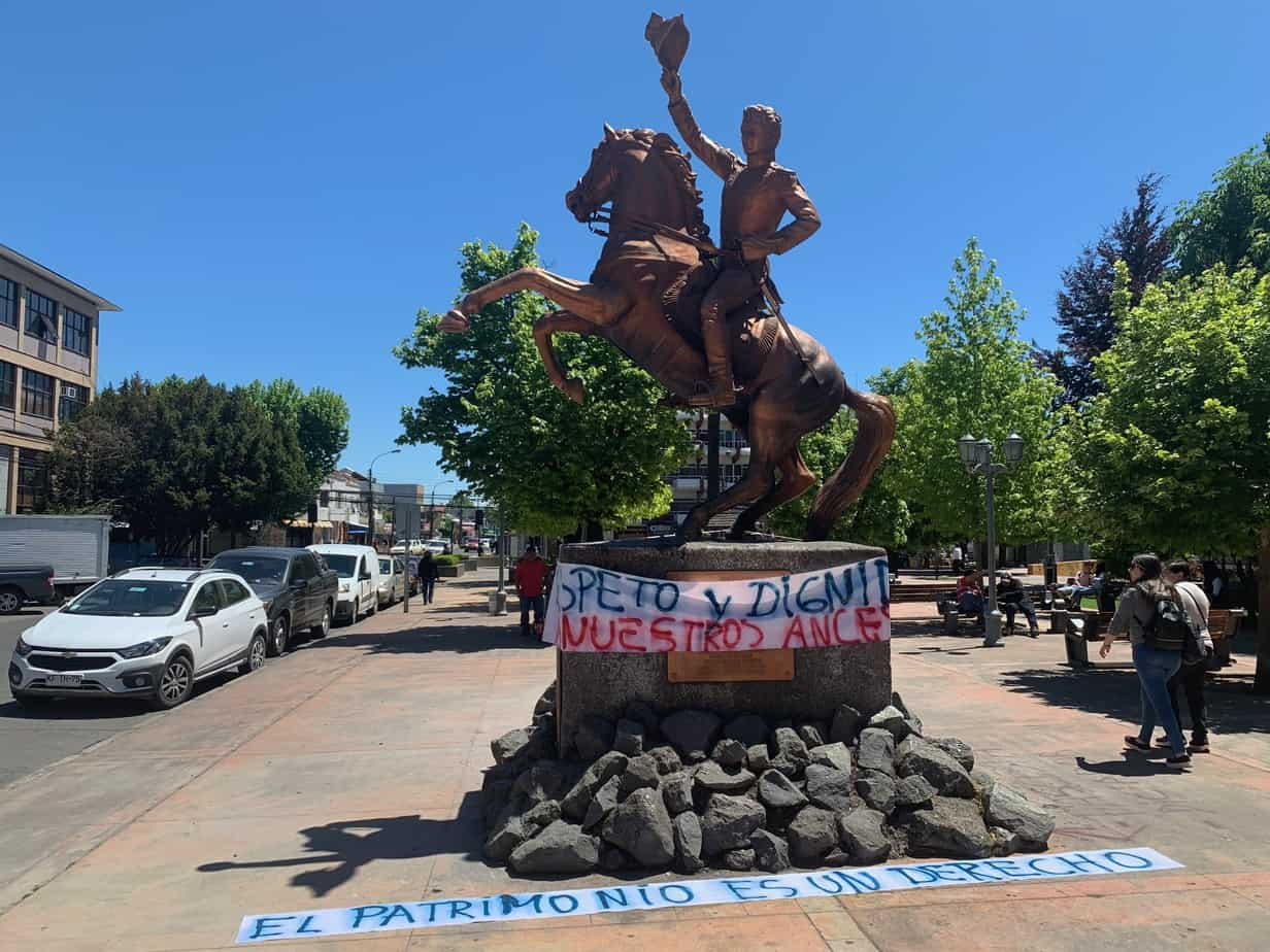 Codepala llama a respetar los monumentos y esculturas en las manifestaciones