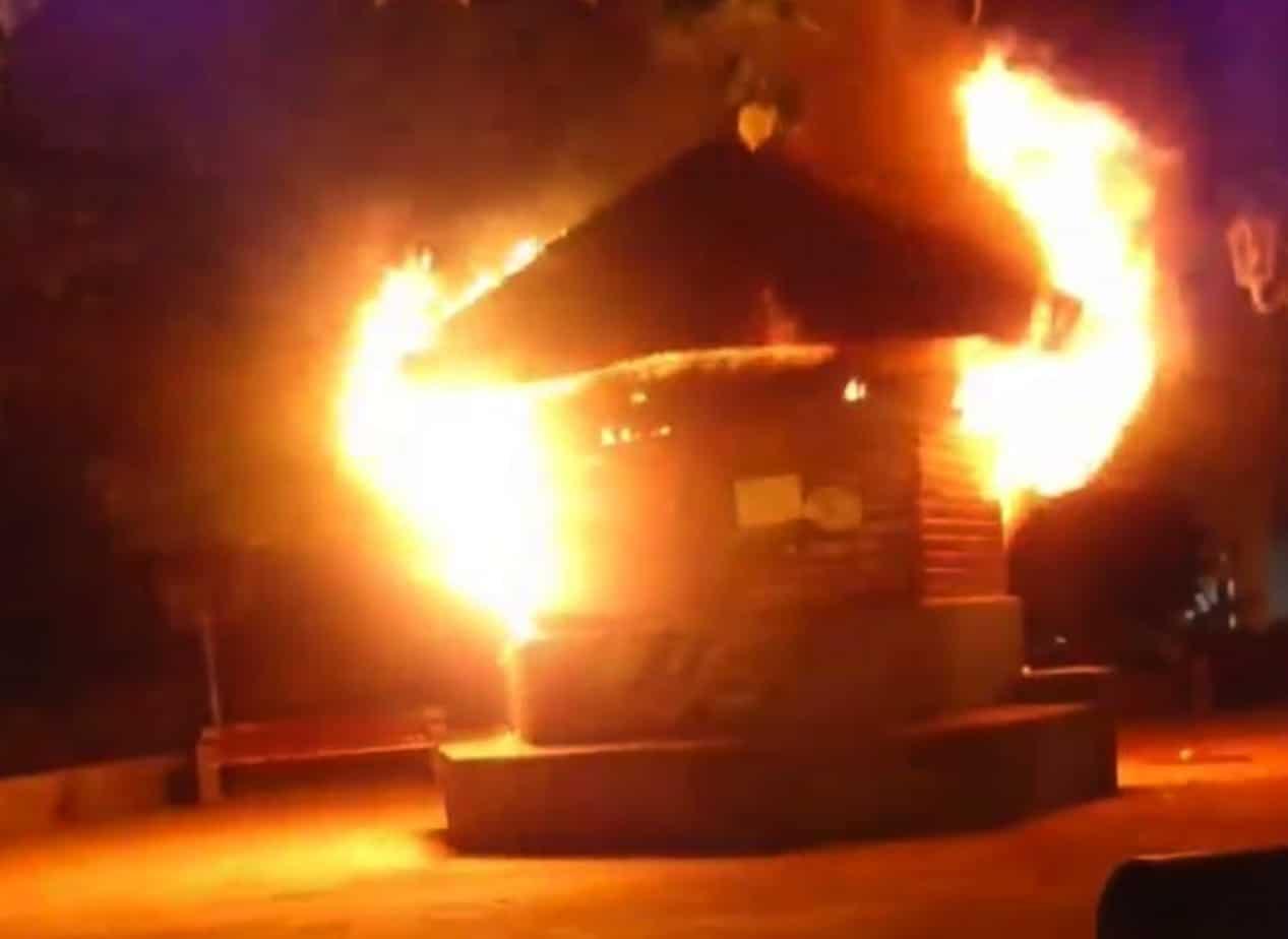 Gobierno presentará querella por incendios en la plaza de Armas de Los Ángeles