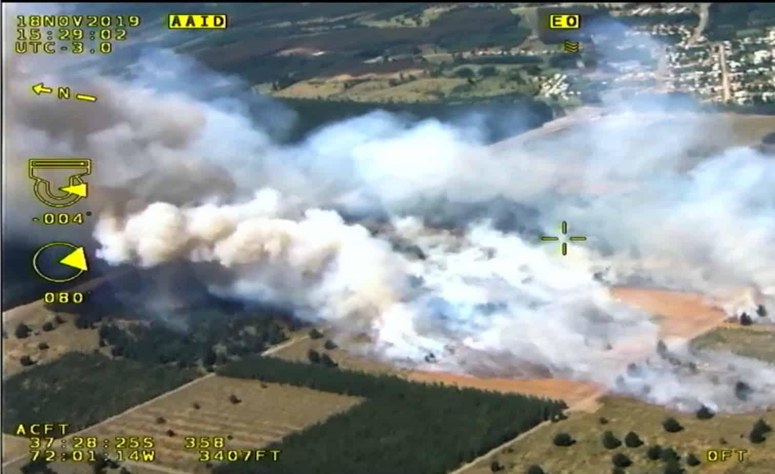 Incendio consume más de 16 hectáreas en Quilleco
