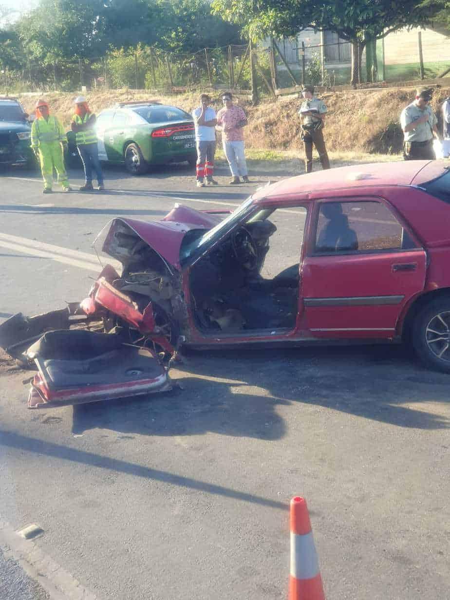 Dos heridos graves deja accidente camino a Nacimiento