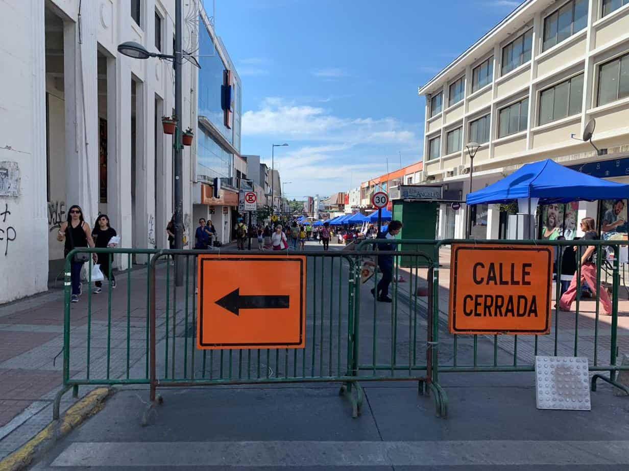Cierran calle Colón para apoyar a las Pymes afectadas tras el estallido social
