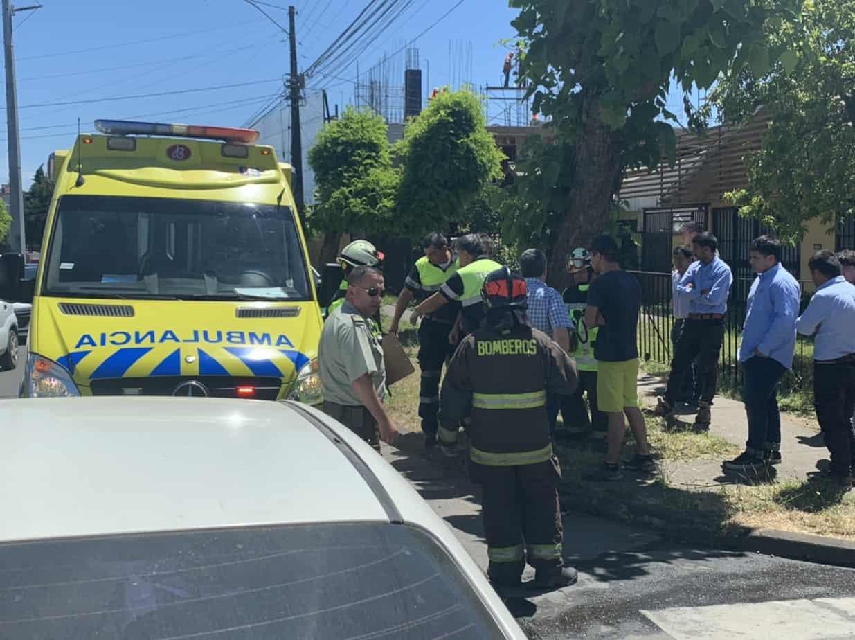 Accidente deja un lesionado en calle Colo Colo a pasos de Marconi