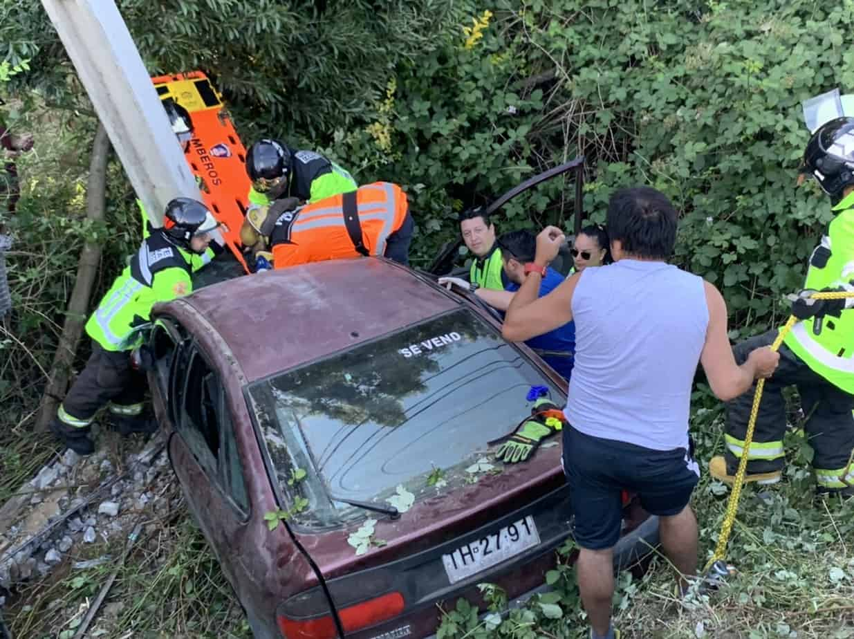 Grave accidente de tránsito deja 4 heridos graves