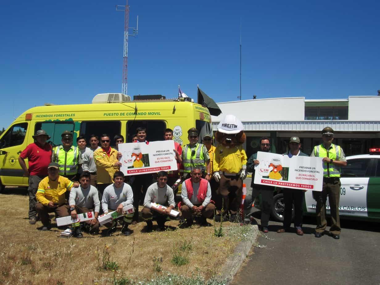 Llaman a prevenir incendios forestales durante estas fiestas en la Provincia de Biobío