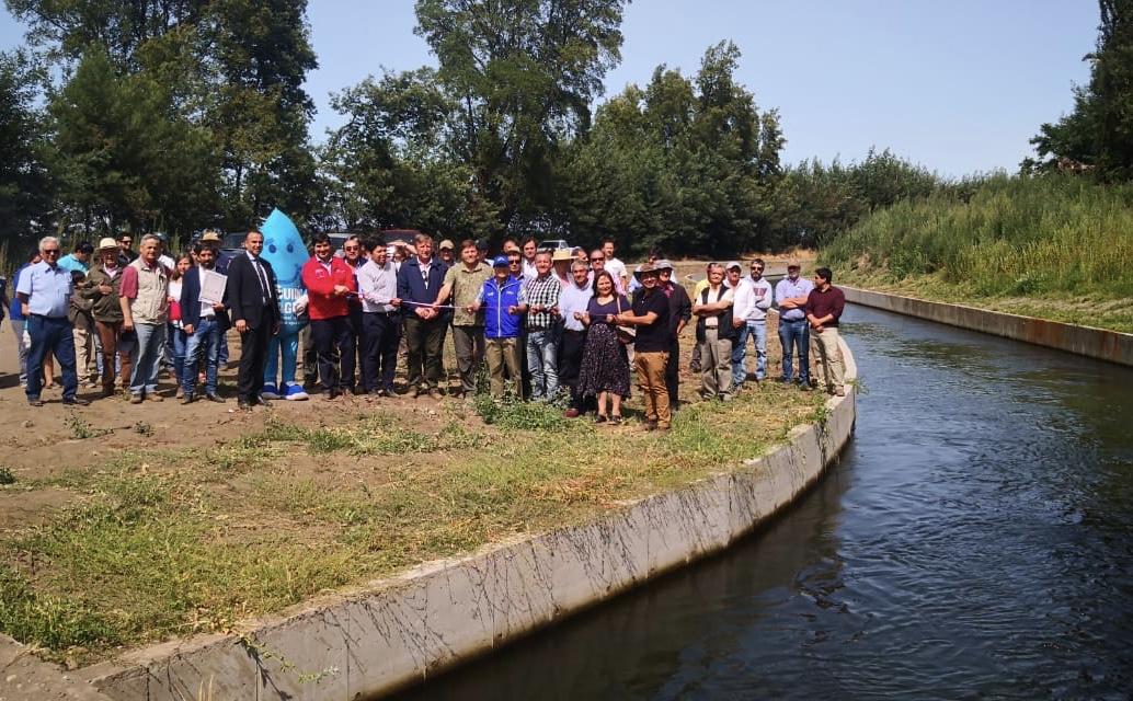 Inauguran obras de Revestimiento del Canal Matriz Duqueco Cuel en Los Ángeles