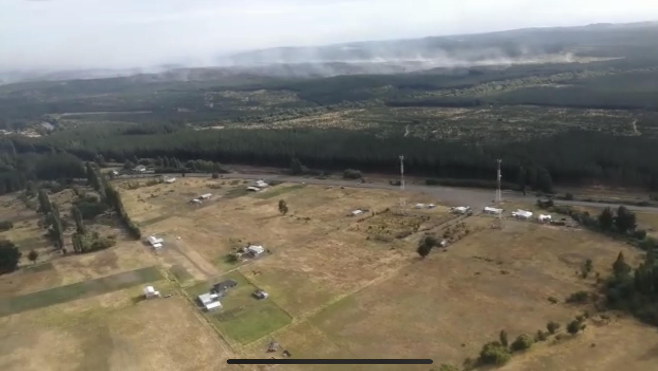 Viviendas de Chorrillos están fuera de peligro tras mega incendio en Laja