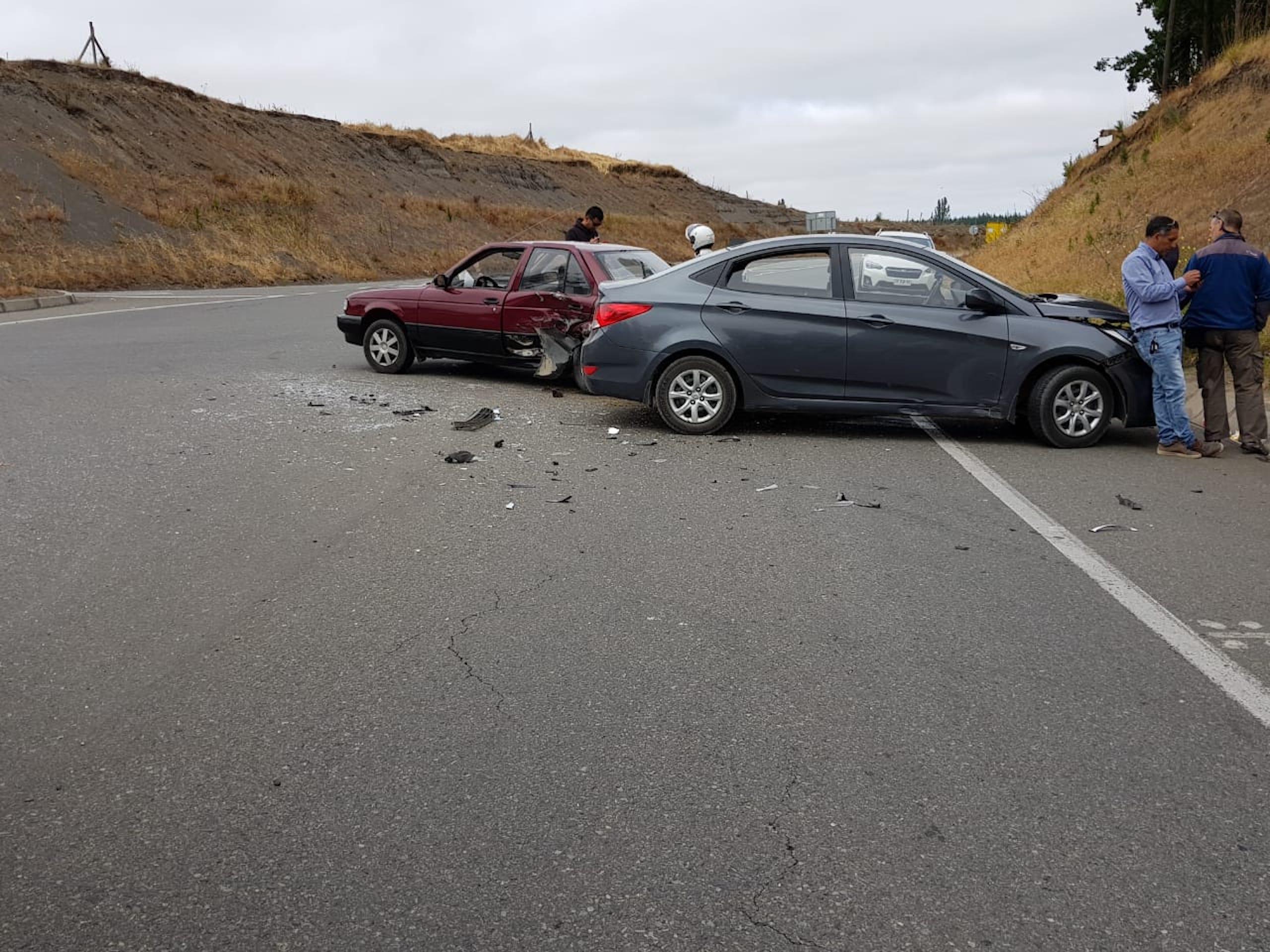 Hombre de 77 años resulta lesionado tras colisión en camino que une Laja con la Ruta 5