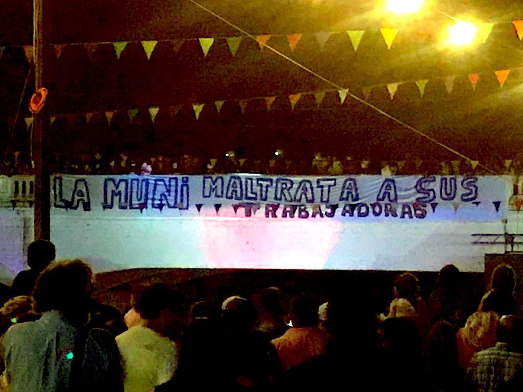 Ex funcionarios municipales de Mulchén y protesta en «Noche Veneciana»: «No tenemos miedo»
