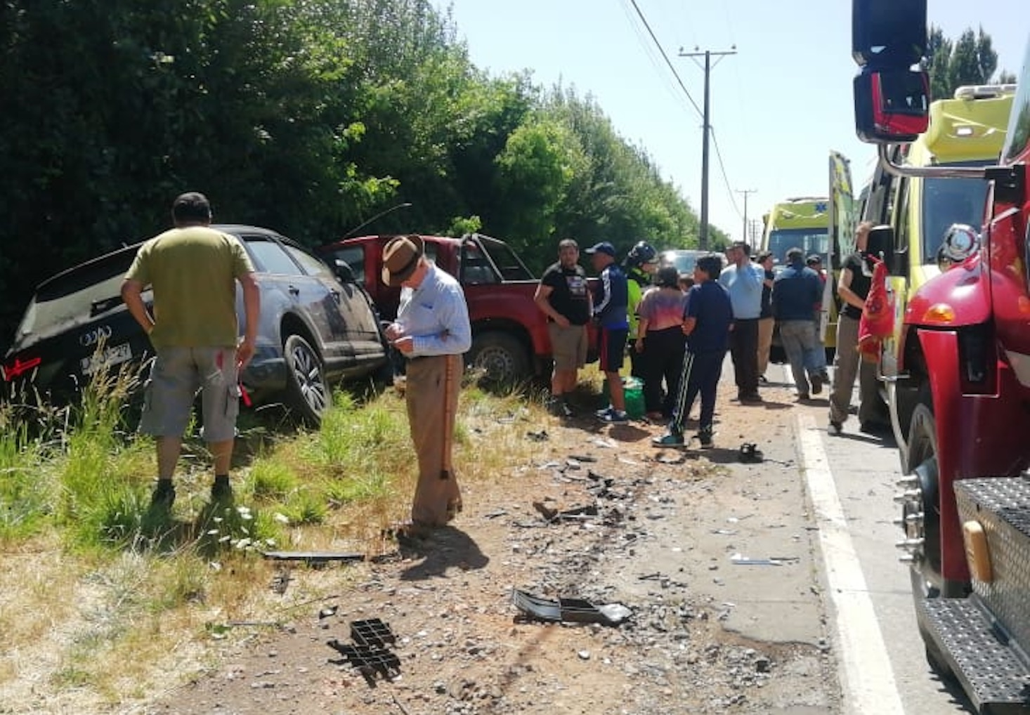 Tres lesionados deja accidente camino a Antuco