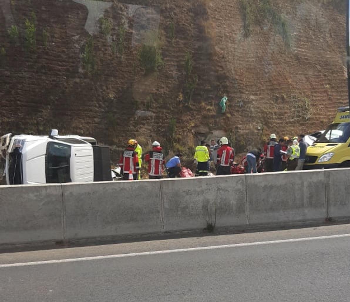 Dos menores resultan lesionados tras accidente en la ruta Cabrero – Concepción