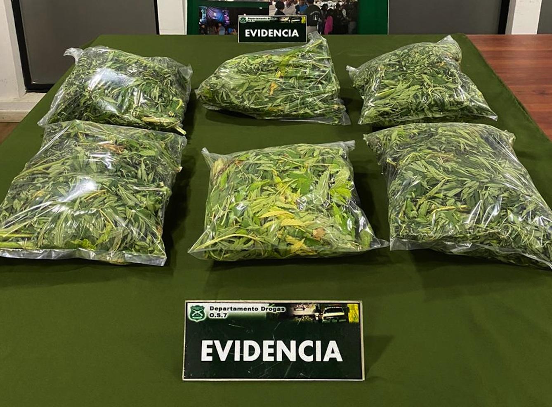 OS7 incauta 8 kilos de marihuana en Los Ángeles