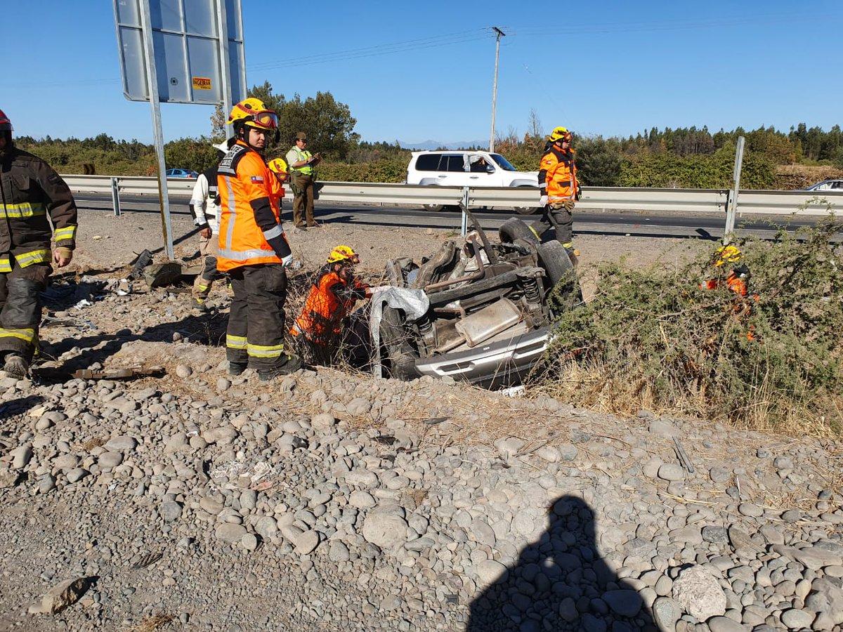 Cuatro muertos deja accidente en la ruta 5 a la altura de Ñuble