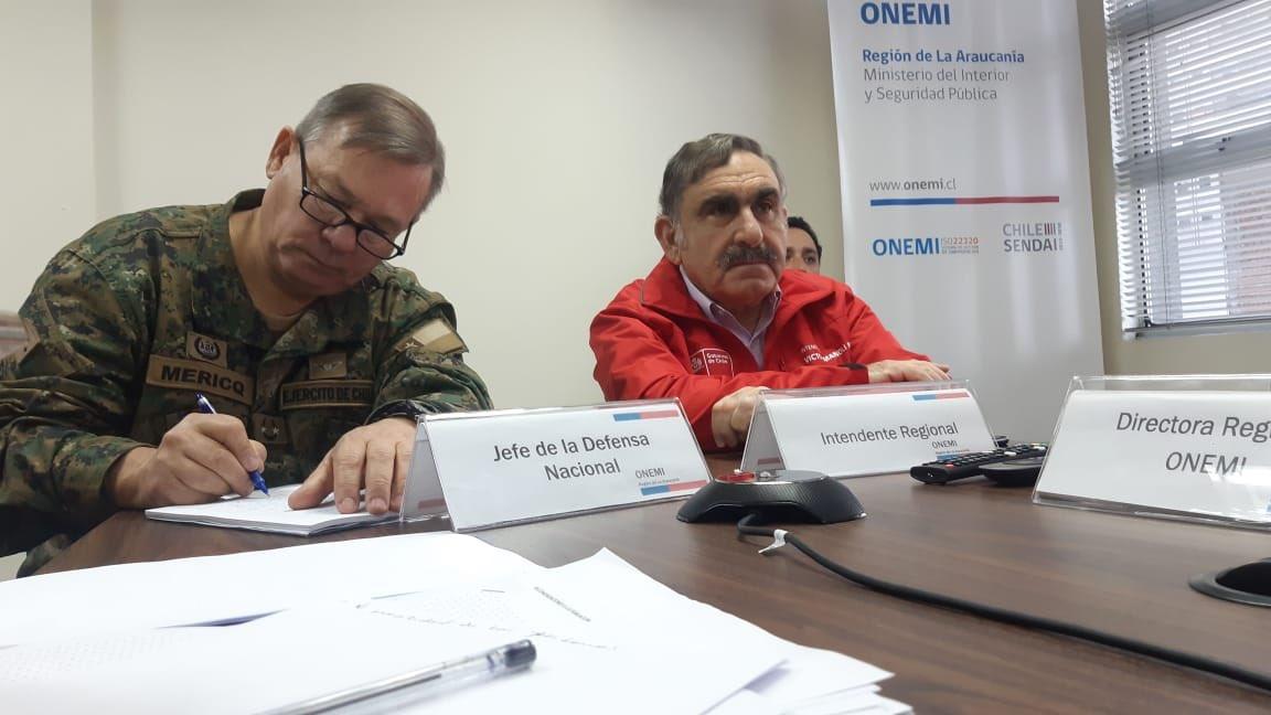 Jefe de la Defensa Nacional en La Araucanía da positivo para Covid-19