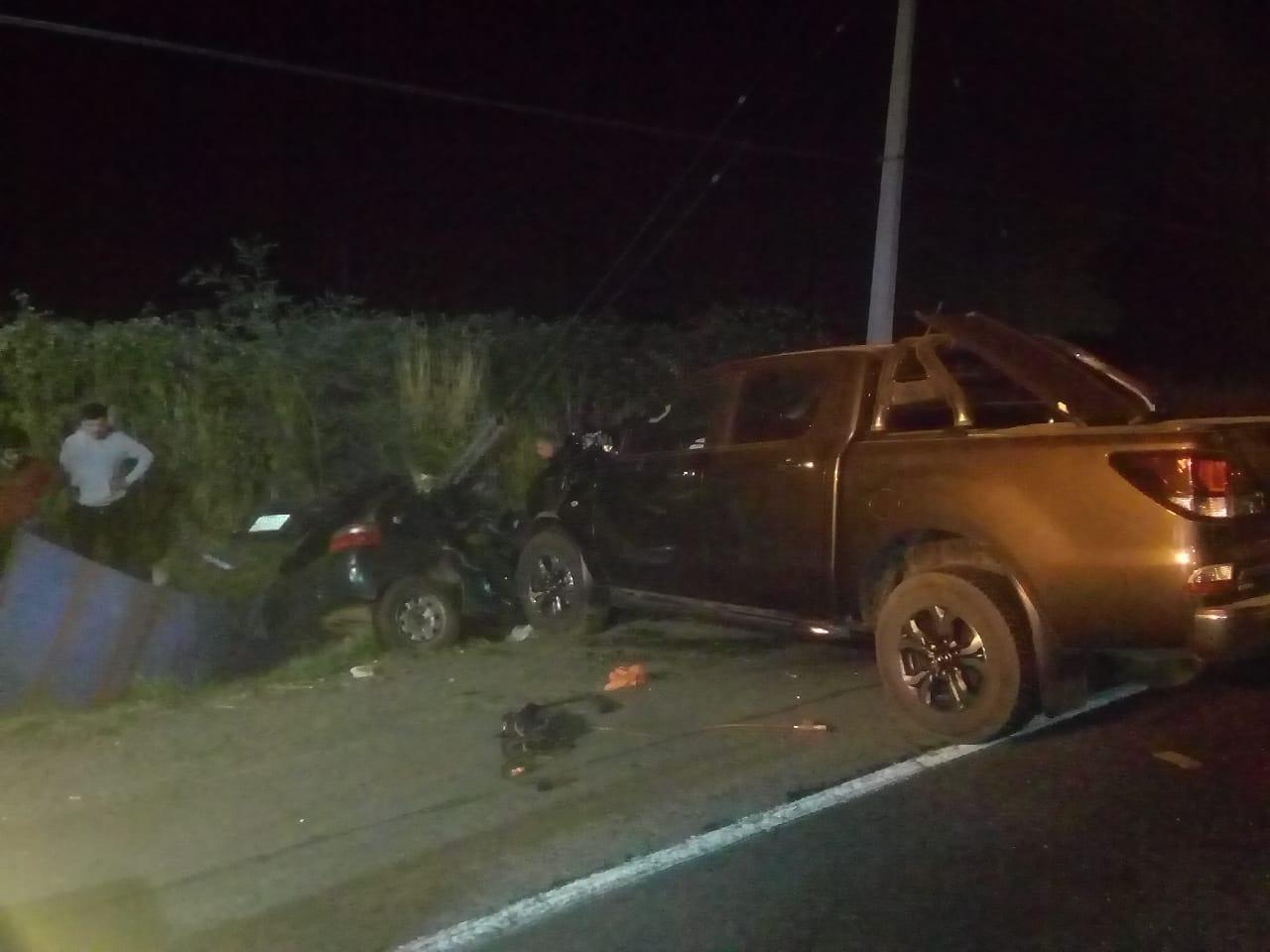 Conductor muere tras colisionar camino a Nacimiento