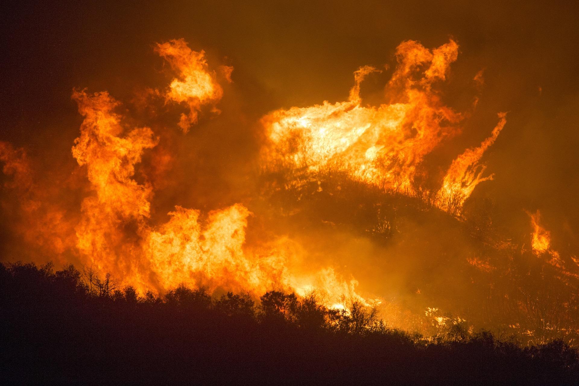 Se incendió cuartel de Bomberos en Ercilla por incendio forestal