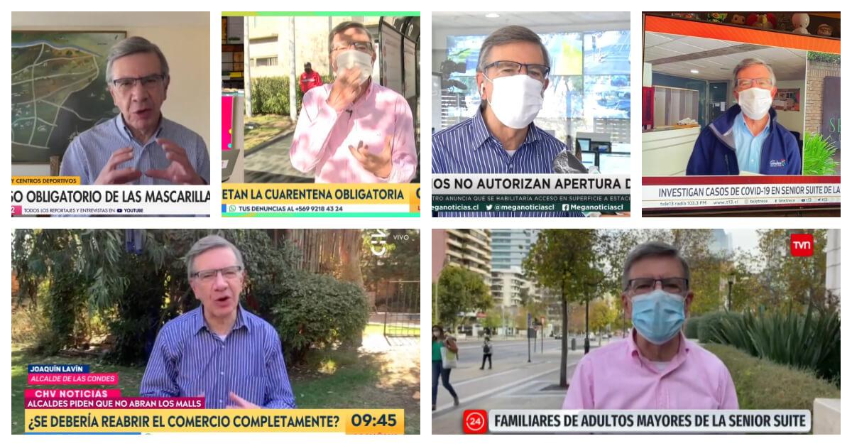 Lavín en TV: El Twitter que registra cada aparición del alcalde de Las condes