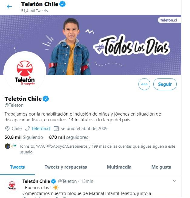 Teletón comienza su segunda jornada como tendencia en Twitter