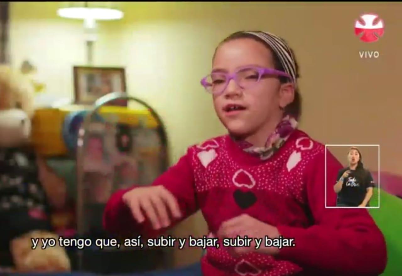 La historia de Uma, la niña que cruzó la cordillera para llegar a la Teletón