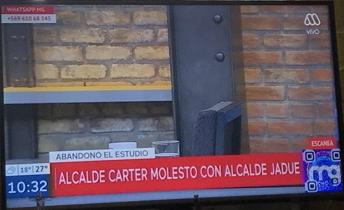 Alcalde Rodolfo Carter se indigna y abandona el estudio de Mucho Gusto
