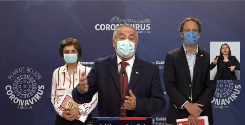 Chile llega a 73.997 casos y 761 muertos por Coronavirus