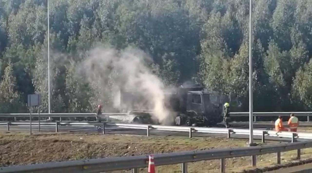 Ataque incendiario a tres camiones en Mulchén