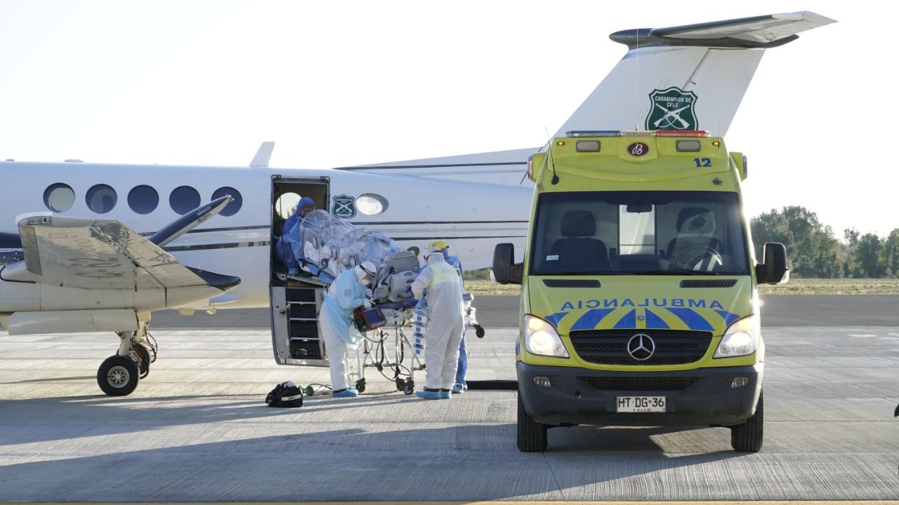Inician operativo médico para trasladar pacientes desde Santiago a Los Ángeles