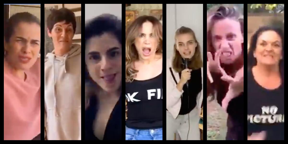 Actrices chilenas se enfrentan a golpes en hilarante video