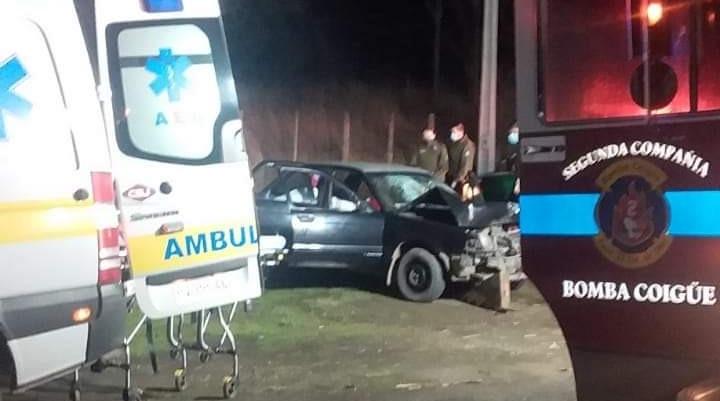 Conductor ebrio queda en estado grave tras protagonizar accidente en Coigüe