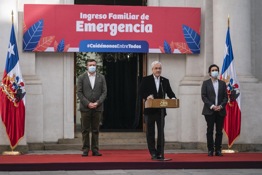Presidente Piñera da inicio a pago de Ingreso Familiar de Emergencia