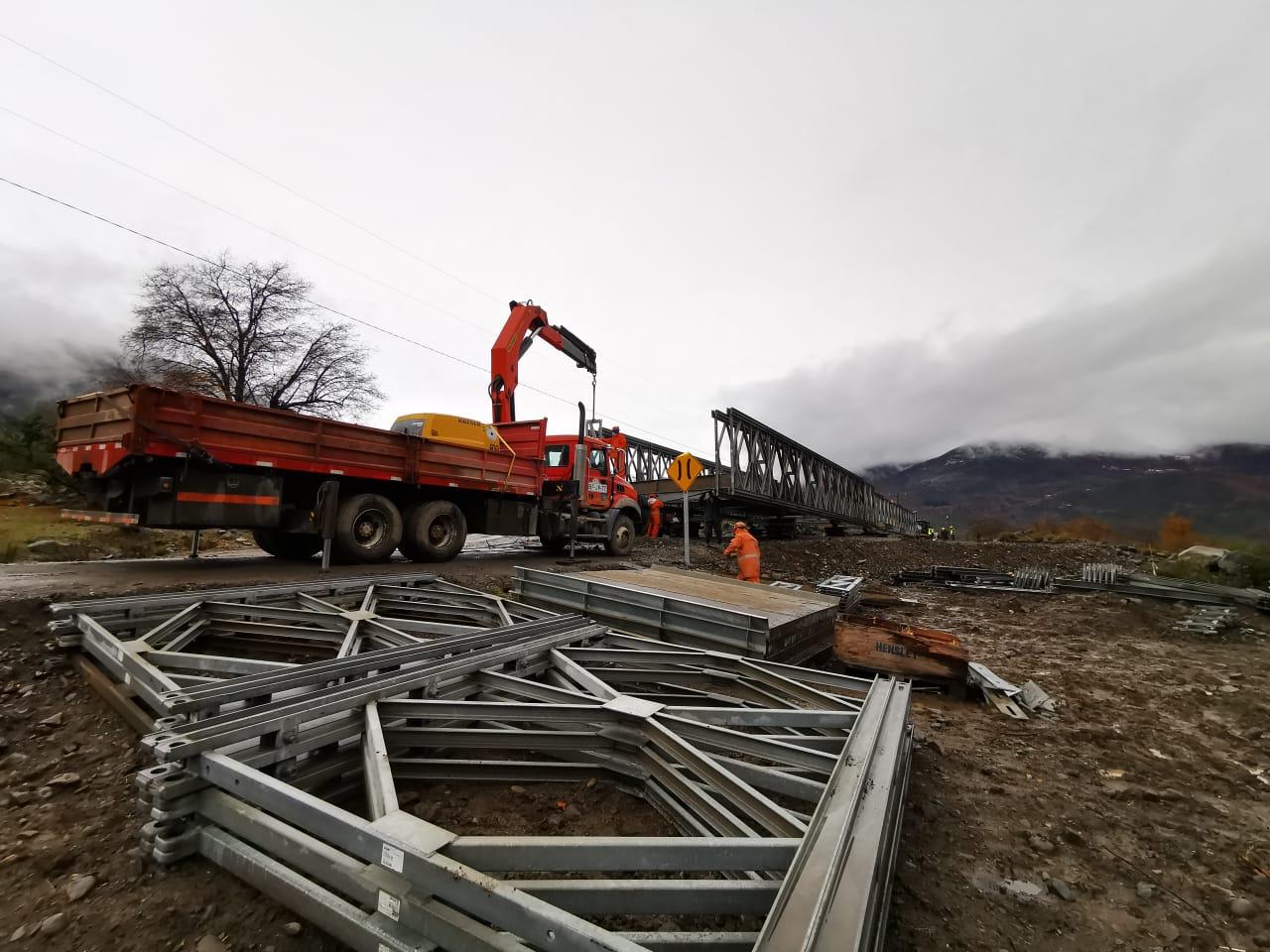 A fines de junio se entregará el Puente Mecano en Alto Biobío