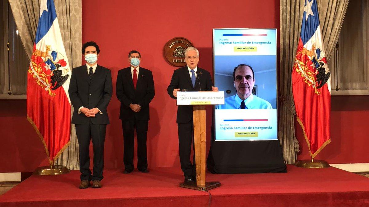 Piñera firma el proyecto para mejorar los montos del Ingreso Familiar de Emergencia