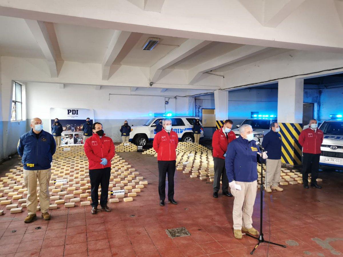 PDI incauta 823 kilos de Cocaína a traficantes en el Biobío