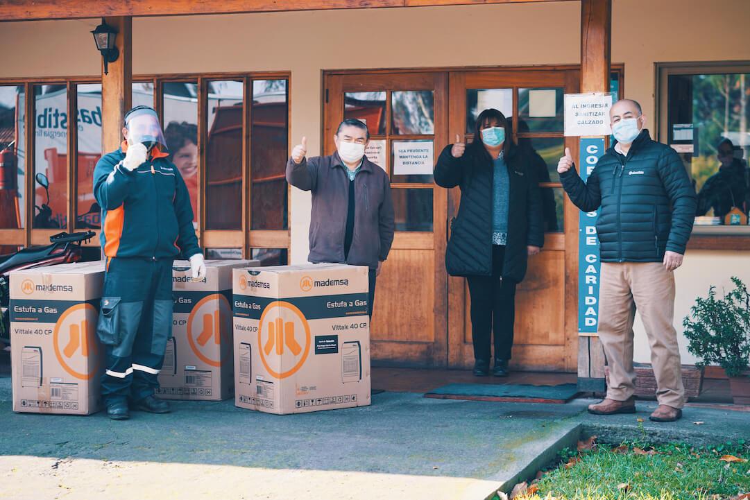 Abastible aporta con gas licuado gratuito a hogares de adulto mayor y albergues del Biobío