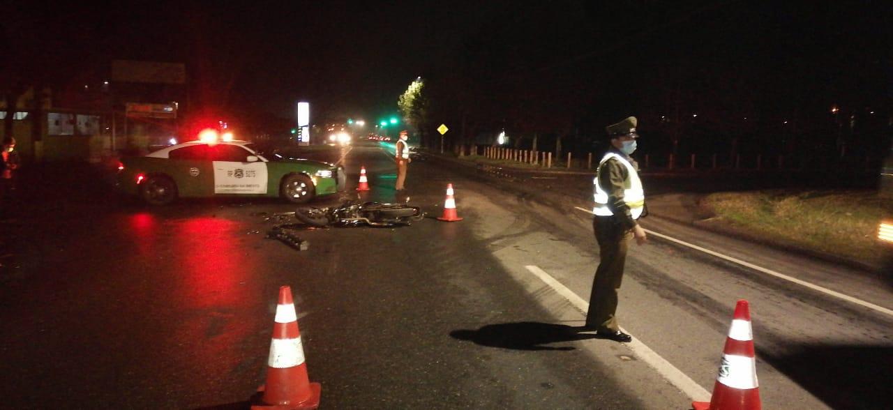 Motorista queda en riesgo vital tras colisionar con un auto en Nacimiento