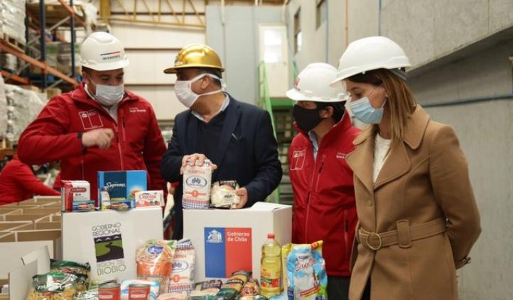 Anuncian nuevas 47 mil cajas de alimentos para el Biobío
