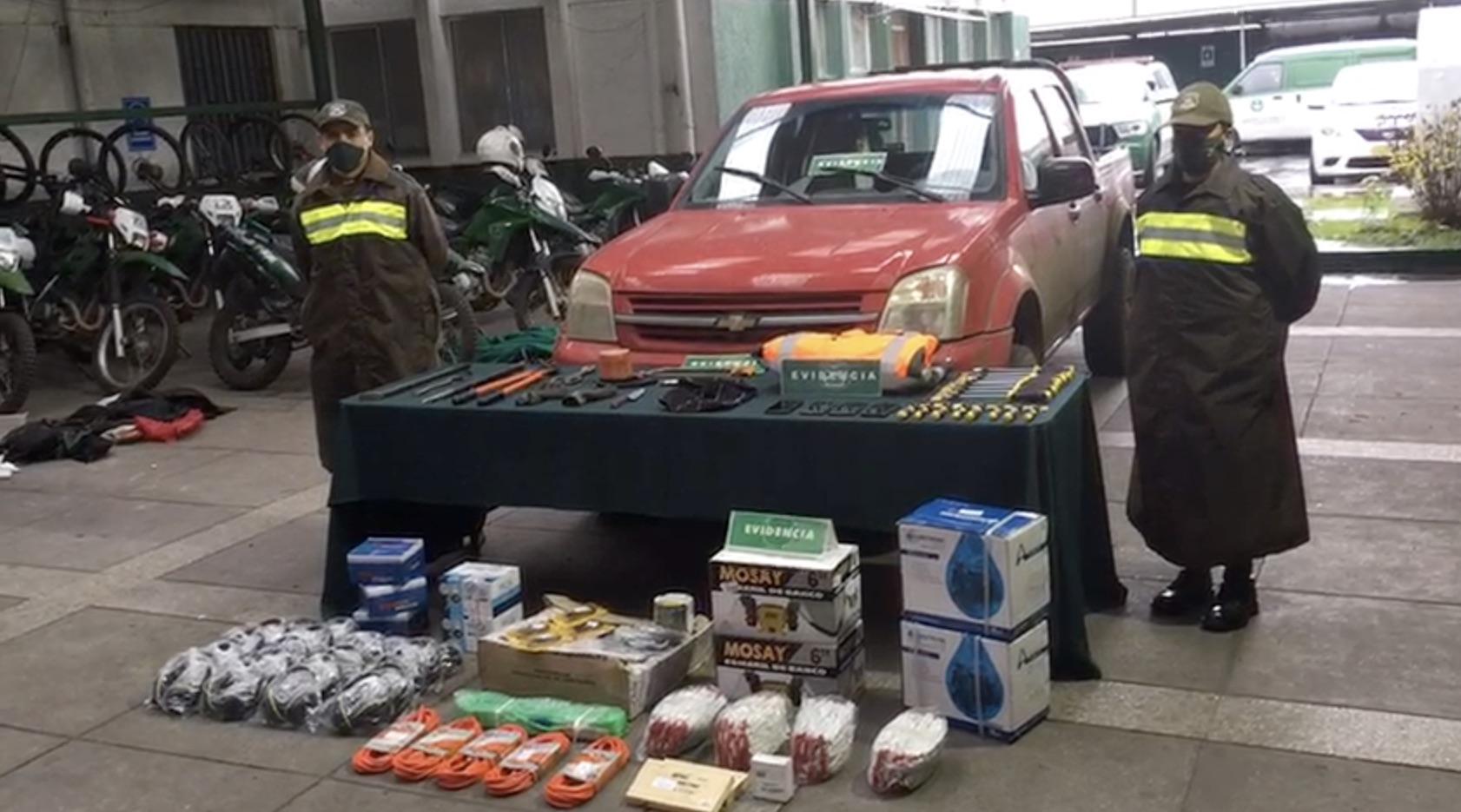 Delincuentes asaltaron camión con insumos médicos que iban a Mulchén