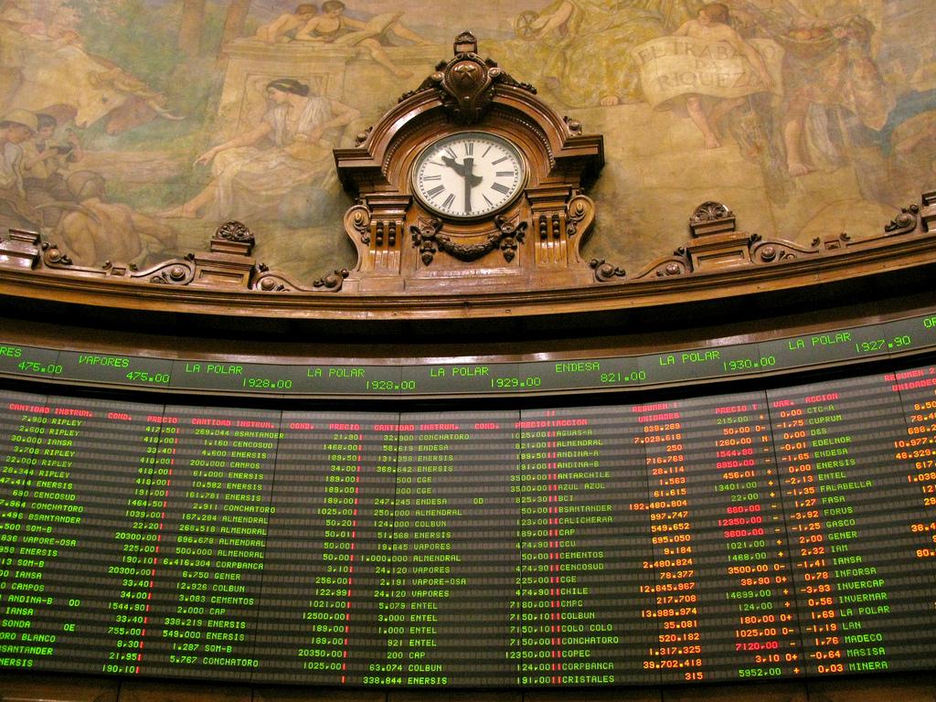 Bolsa de Santiago cae al peor desempeño de todo el mundo tras aprobación del 10%