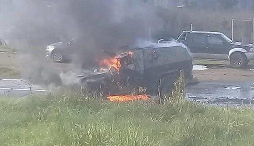 Gobierno se querella por ataque incendiario a carro policial en Cañete
