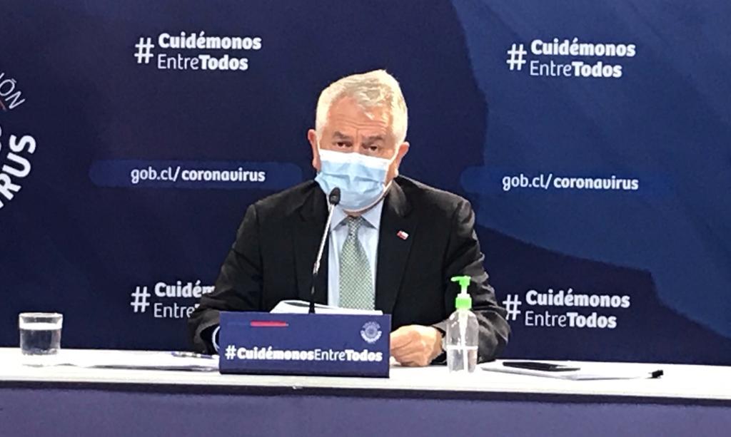 Ministro de Salud y baja de 33% de los casos: «Estamos preparados para los rebrotes»