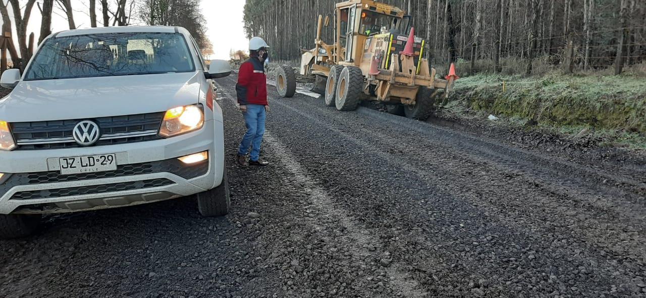 Histórico: Segundo semestre inician pavimentación de ruta Mulchén-Negrete
