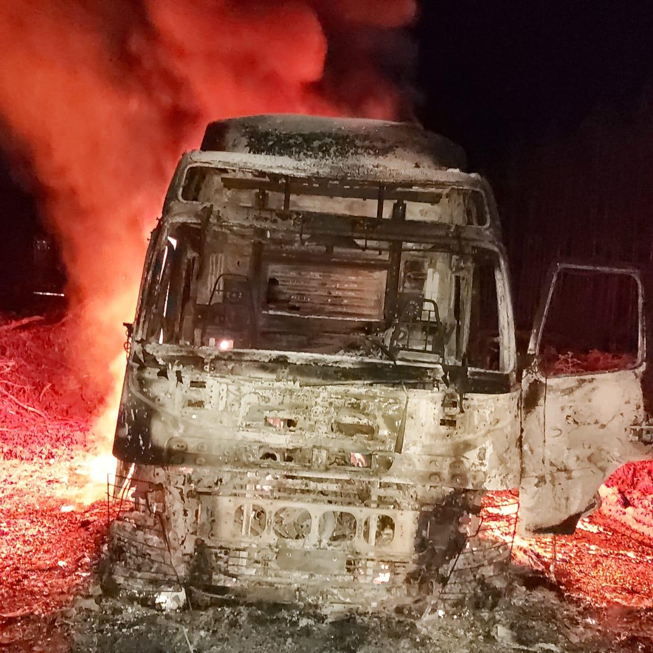 Las impactantes imágenes que dejó el atentado en Mulchén